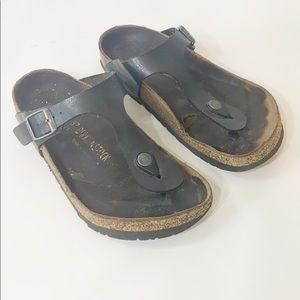 Birkenstock Gizeh Distressed Sandals 37 6